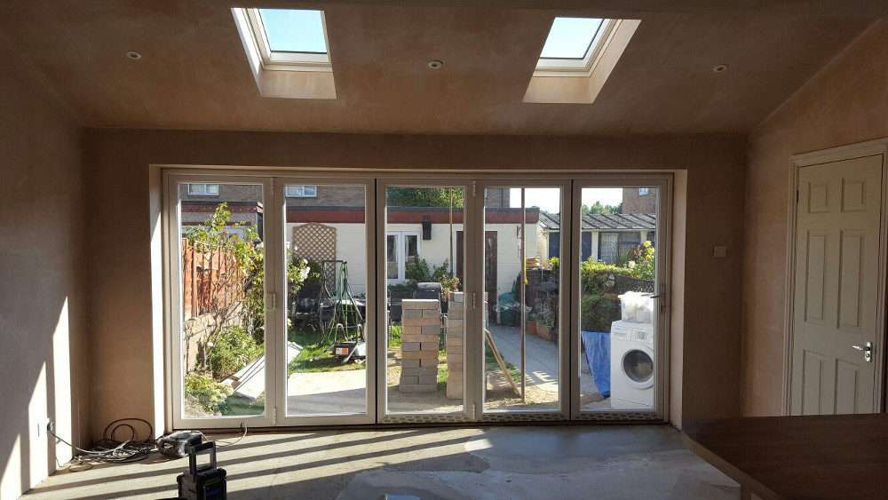 Sliding extension doors fitted in Portsmouth, Hampshire